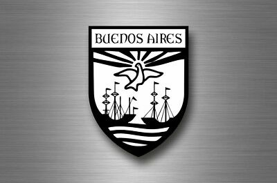 Sticker decal souvenir car coat arms shield city travel argentina buenos aires