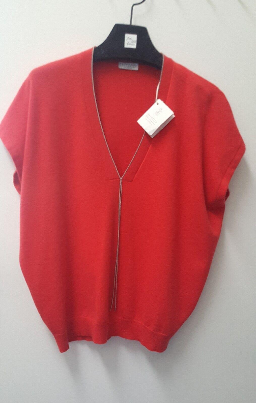 NEW NEW NEW BRUNELLO CUCINELLI Sleeveless Sweater, Größe L 3ef