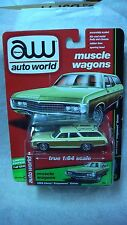 AUTO WORLD 2017 1/64 67 CHEVROLET KINGSWOOD CREAM MUSCLE WAGONS R2 B NEW RARE