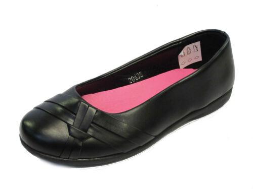 nero scuola senza ragazze Slip on scuola scarpe H2379 per 5zqU0