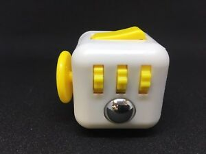 Image Is Loading Yellow White Fidget Cube Toy Dice Anxiety Stress