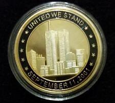 World Trade Center, Gold Plated Coin, September 11, Memory Token 9/11