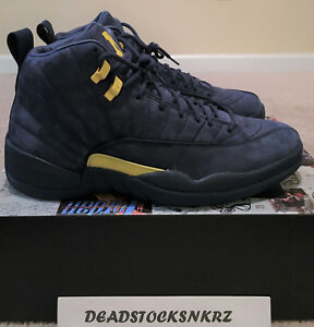 newest 79bcf 2fb63 Image is loading Nike-Air-Jordan-12-Retro-Michigan-NRG-PE-