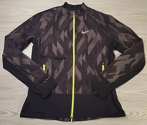 Nike-Women-039-s-Flex-Trail-Running-Jacket-Black-Grey-Volt-836241-010-Size-L-NWT