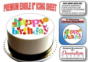 Pink Floyd Design 2 PERSONALISED 8 INCH ICING Edible Cake Topper Birthday Rock