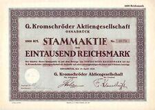 G. Kromschröder AG 1928  Osnabrück