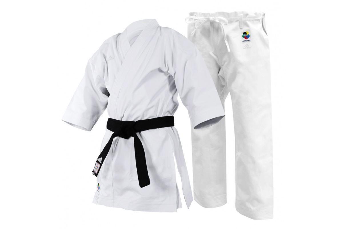 Adidas WKF Yawara Karate Suit Adult Mens Womens Premium 12oz Uniform White Gi