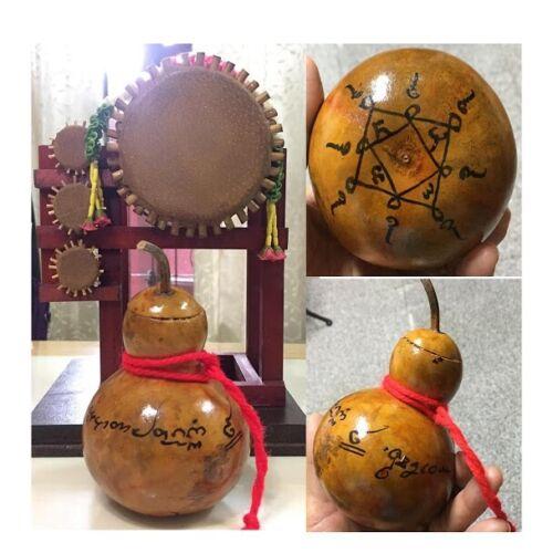 Magic CalabashTalisman Wealth  Hoard Money Thai Amulet Home Decor Charm Lucky