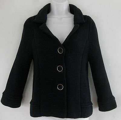 Banana Republic Sweater jacket XS Pure cotton Black Flare Cardigan Buttons Thick
