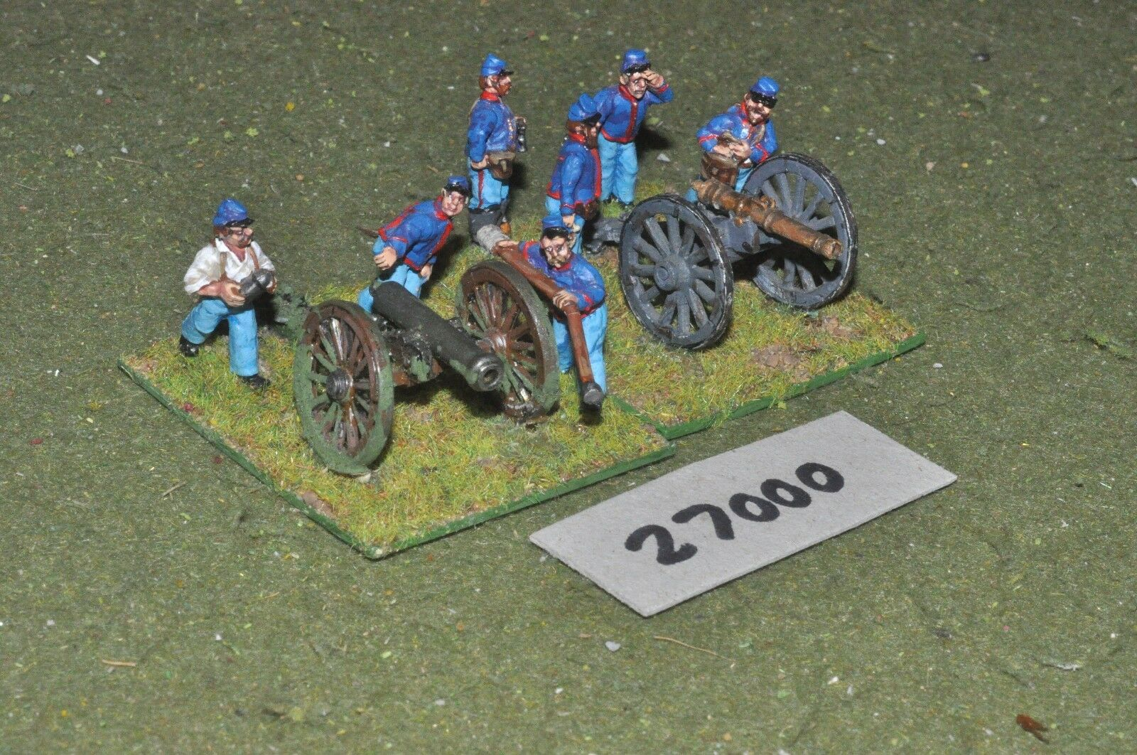 25mm ACW   union - 2 guns & crews - art (27000)