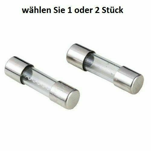 10 Stück Feinsicherung Glassicherung Flink 20mm 0,5 A Sicherungen 0,5A