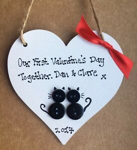 Personalised Valentine Gift Heart First Valentines Day Together