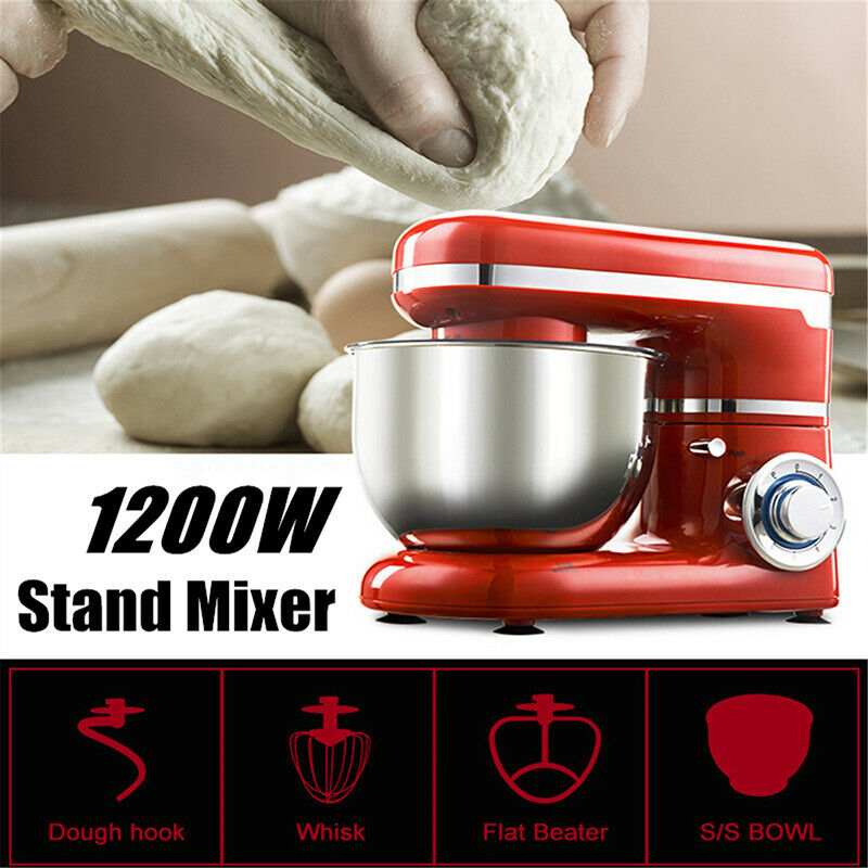 Stainless Steel Electric Food Stand Mixer With Bowl Dough Hook Titl-Head