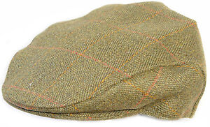 Mens-Derby-Tweed-Cap-Flat-Country-Walking-Casual-Dk-Green-Teflon-Bowler-derby