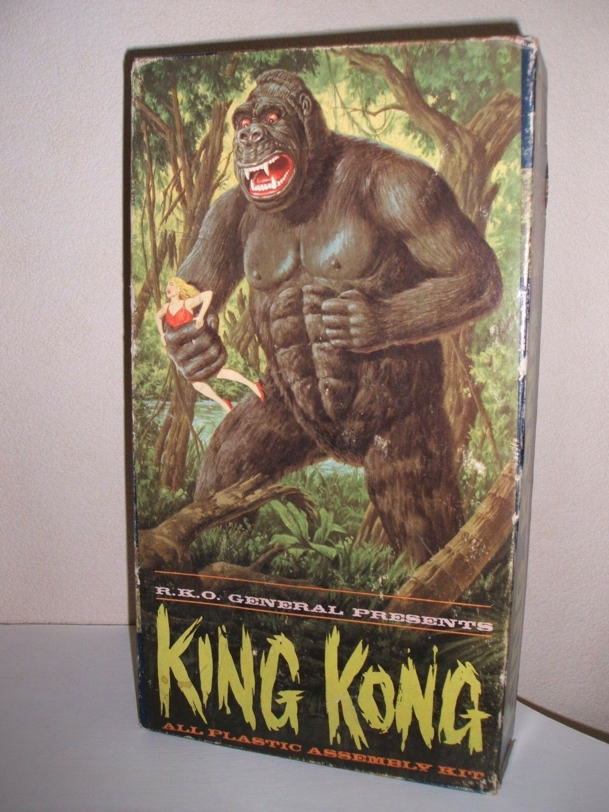 AURORA KING KONG ORIGINAL MODEL KIT 1964 UNMADE IN MID GRADE US BOX VERY RARE