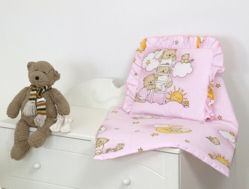 2 PC SET INC FILLED DUVET+PILLOW+MORE DESIGNS PRAM//CRIB//MOSES BASKET BABY SET