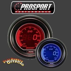 Prosport EVO Digital Boost Gauge RED BLUE 52mm Waterproof sensor