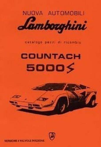 Catalogue Book Paper LAMBORGHINI Countach 5000 4v Car Parts manual 4 Valve