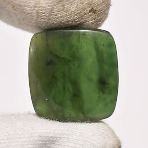 35 Ct. Natural Nephrite Jade Cushion Cabochon Loose Gemstone For Jewelry ZZ-6842