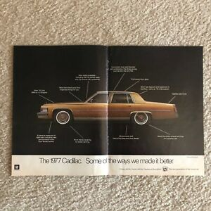 COPPER 1977 CADILLAC Fleetwood Brougham 1976 Print Ad ~ Ways We Made it Better