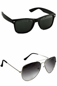 Combo Aviator And Wayfarer (In Case & Wiping Cloth)(Goggles)