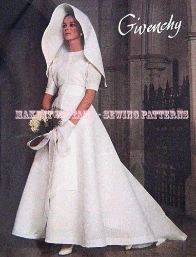 Givenchy Wedding Dress.Vintage 60 S Vogue Paris Original 2252 Givenchy Wedding Dress Sewing Pattern B36