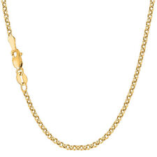 """10K Yellow Gold Ladies 2.3MM Rolo Chain Anklet 10"""""""
