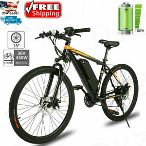 """26"""" 350W Electric Bike Mountain Bicycle Commuter City EBike Max 20MPH 21 Speeds"""