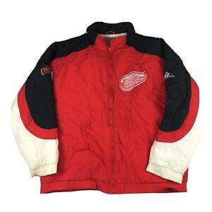 VTG-90s-Detroit-Red-Wings-Puffy-Parka-Jacket-by-Apex-One-NHL-Hockey-Sz-XL