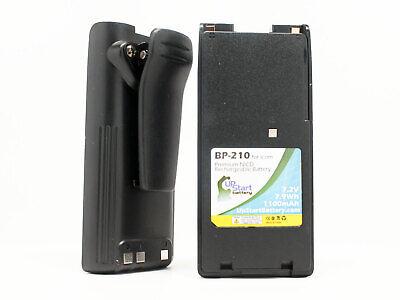 Battery /& Charger for Icom BP-210N IC-T3H IC-F21 IC-F12 BP-209 NICD 1100mAh