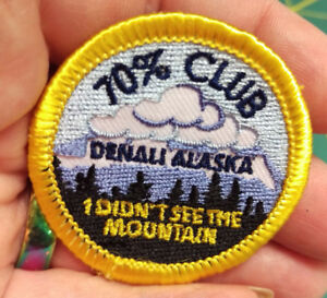 NEW-Fun-Alaska-Merit-Badge-Patch-70-CLUB-DENALI-Alaska-patch-FUNNY
