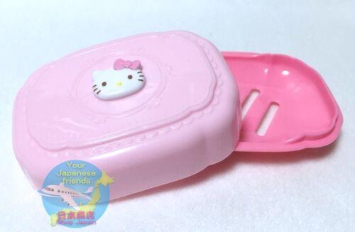 SANRIO HELLO KITTY KAWAII Cute Soap Dish Box Case with Lid Plastic AIRMAIL JAPAN