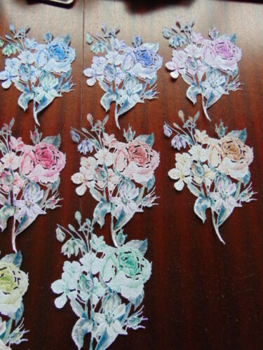 Tattered Lace Die Cuts Floral Watercolour Peony Flower Bouquet 10 colours 1 each