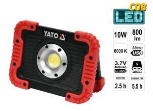 Led Batterie Projecteur De Chantier 10w Cob 4400 Mah 800lm Usb Lampe