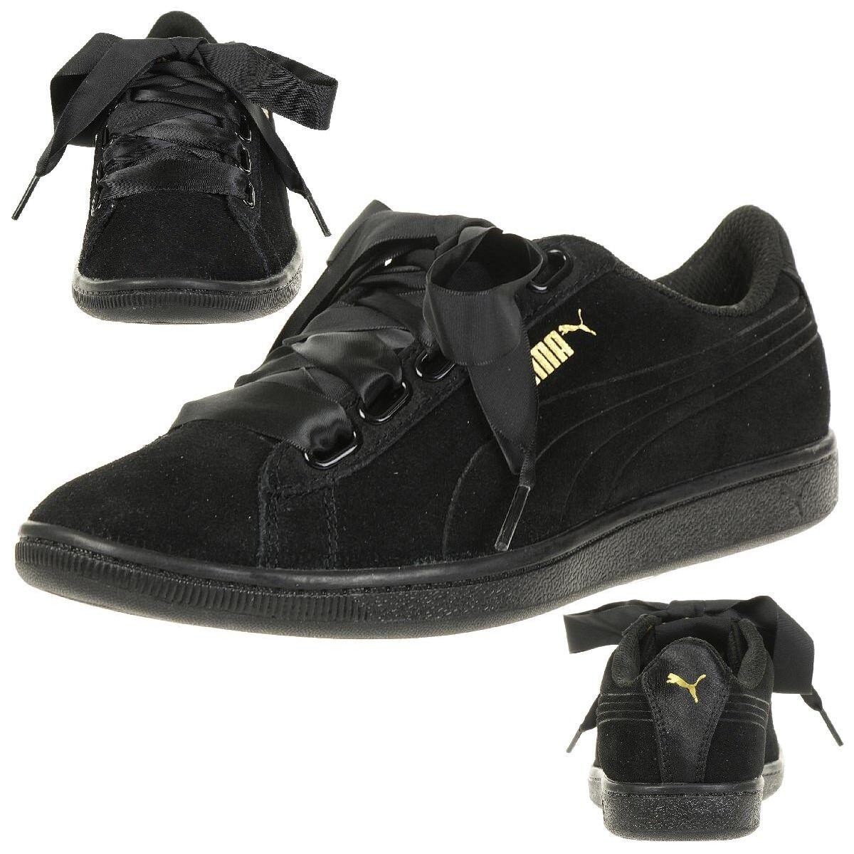 Los zapatos más populares para hombres y mujeres Puma Vikky Cinta S Zapatillas Zapatos Mujer 366416 01 Negro