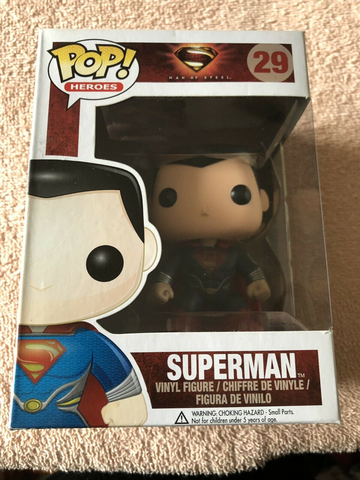 Man Of Steel Superman Funko Pop Vinyl Figure  29 DC Comics Super Heroes