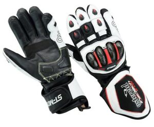 New-TracTech-EVO-Motorcycle-GLOVES-Leather-Biker-Motorbike-SPS-Knuckle-Armour-CE
