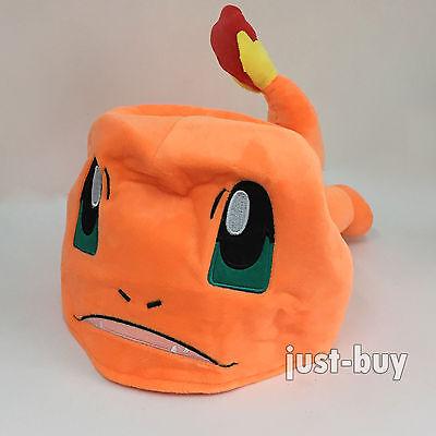 Charmander Pokemon Hat Plush Soft Toy Character Cloth Cosplay Cap Costume