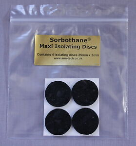 SRM-TECH-SELF-ADHESIVE-SORBOTHANE-MAXI-ISOLATING-DISCS-4-PACK-GREAT-VALUE
