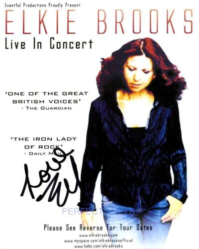 ELKIE BROOKS SIGNED PHOTO PHOTO PP #A