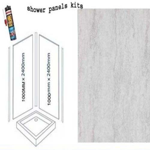 Kits de paneles de parojo Plata Traverdeino De Ducha 2X1M X 2400X 10MM de espesor