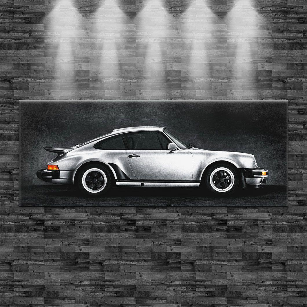 XXL Porsche 911 turbo classic auf Leinwand 160cmx60cm Design Bild Loft Sportwage