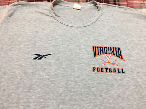 VINTAGE REEBOK UVA Virginia Cavaliers Football Shirt VTG 90s TEAM ISSUE! 🚨RARE
