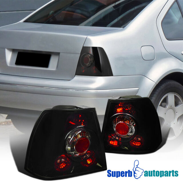 Fit 1999 2005 Vw Jetta Bora Mk4 Replacement Tail Lights Glossy Black Dark Smoke
