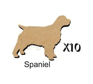 MDF-Shape-Dog-10-SPANIEL-MDF-cutouts-keyring-5-Sizes-FREE-Hole-DOGW033