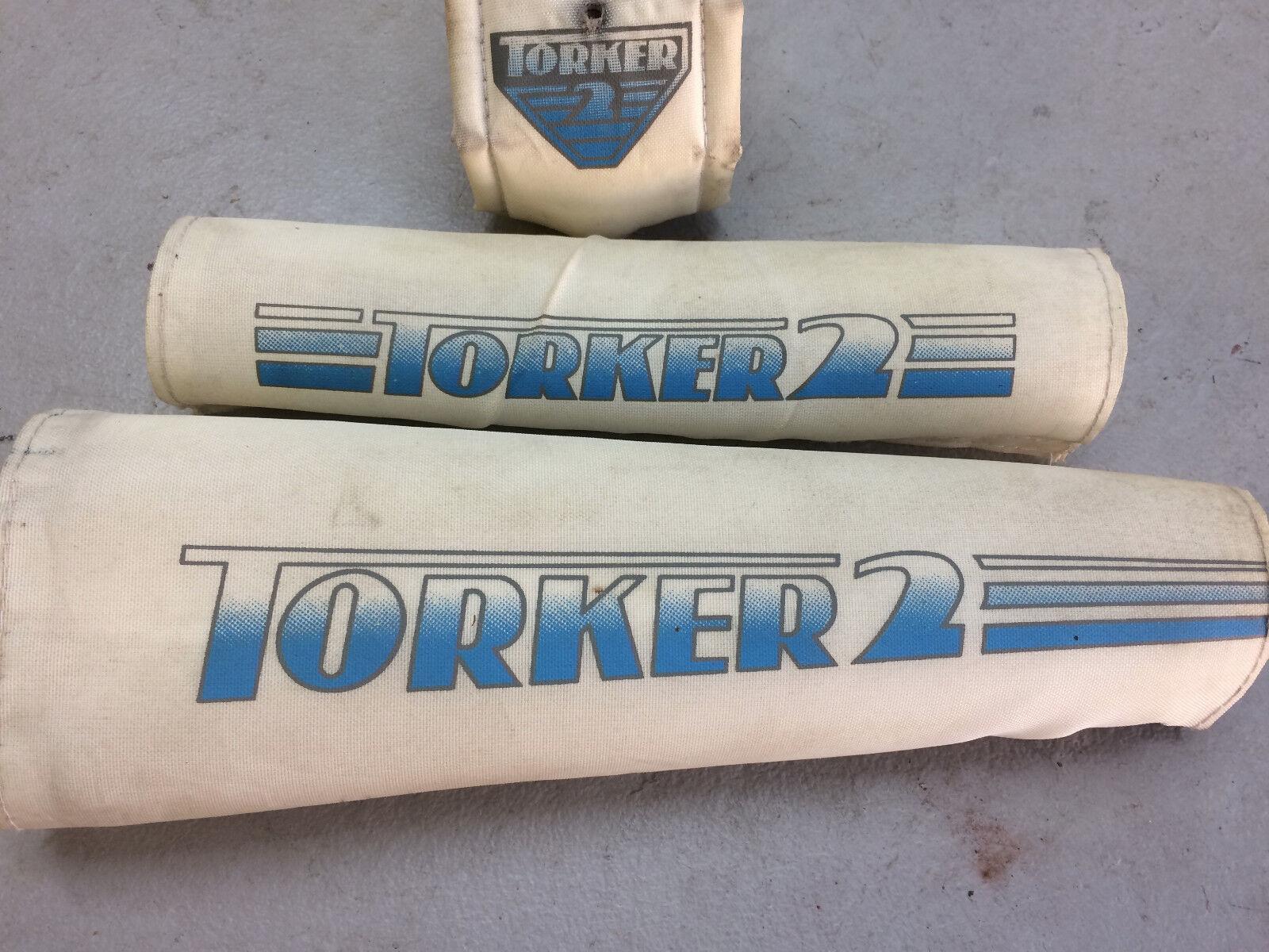 Old School Torker 2 Frame Pad set Padset BMX Freestyle 80s 1980s - Vintage Rare