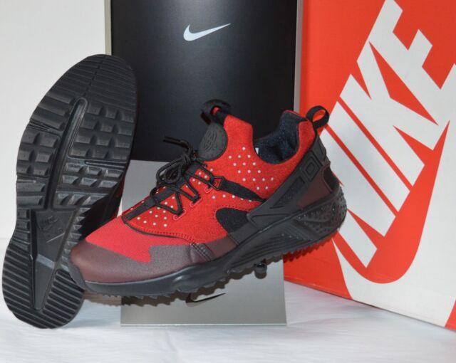 New Nike Air Huarache Utility Gym Red Black Running Retro sz 11 Cross  Training 06d767081