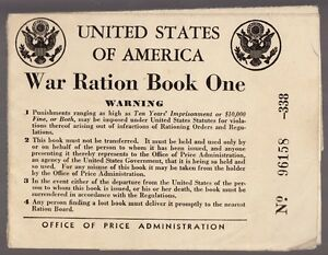 57281-1942-U-S-WAR-RATION-BOOK-ONE-CERTIFICATE-OF-REGISTRAR-WITH-TWO-STAMPS