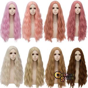 78CM Lolita Fluffy Heat Resistant Long Curly Halloween Japan Cosplay Wig Cute
