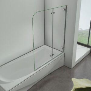 100x140cm badewannenaufsatz duschabtrennung esg glas dusche badewannen faltwand ebay - Faltwand dusche ...